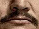 Sticker other moustache asymetrique pena narcos