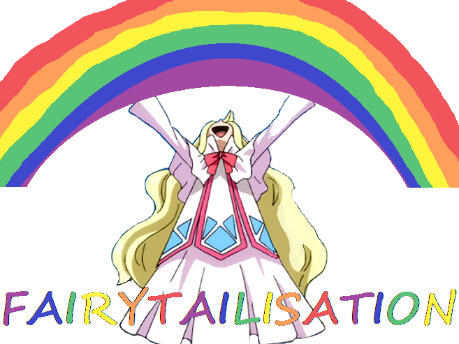 Sticker fairytailisation mavis arc en ciel haut en couleurs manga shonen gentils mechants lolita fairy tail gonzaroo facilite scenaristique scenario scenarium