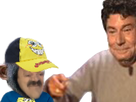 Sticker risitas papa risisinge ecolier casquette bleu jaune rentree ecole lycee college fac