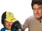 Sticker risitas papa droite gant de boxe soral