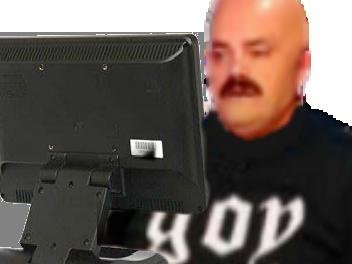 Sticker risitas goy ordinateur soral pull noir khey