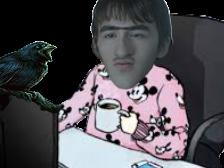 Sticker brandon bran stark got pyjama mickey cafe crow 3 three eyed raven