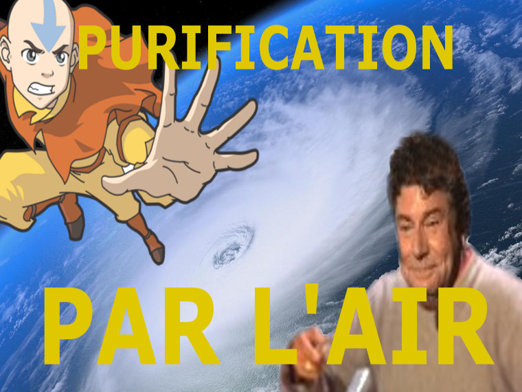 Sticker risitas purification air jesus cyclone terre aang avatar maitre
