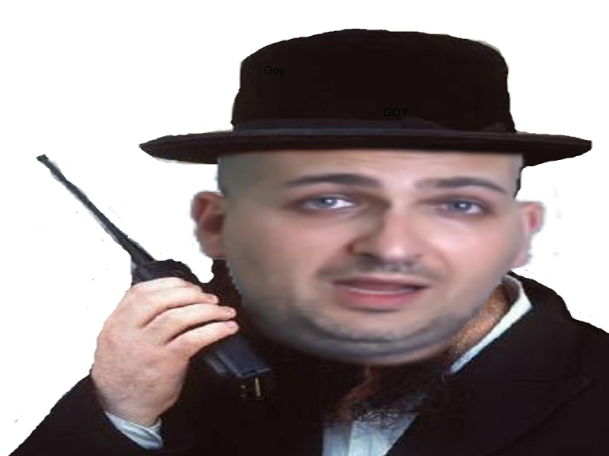 Sticker epenser talkie walkie juif barbe chapeau e penser