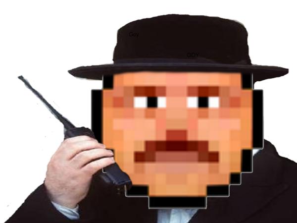 Sticker smiley juif risitas talkie walkie