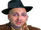 Sticker epenser juif e penser main chapeau