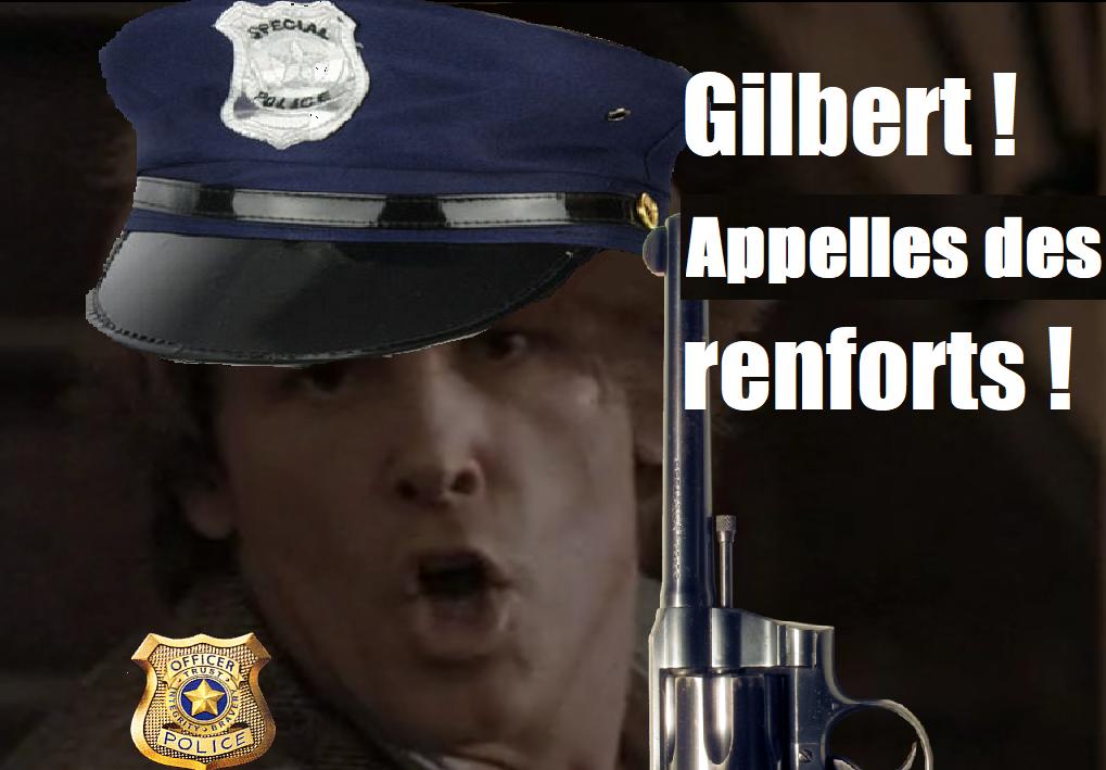 Sticker risitas police renfort gilbert