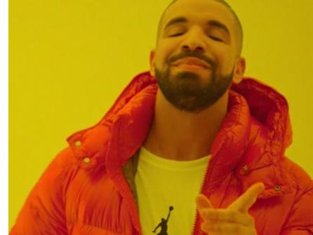 Sticker other drake meme hotline bling