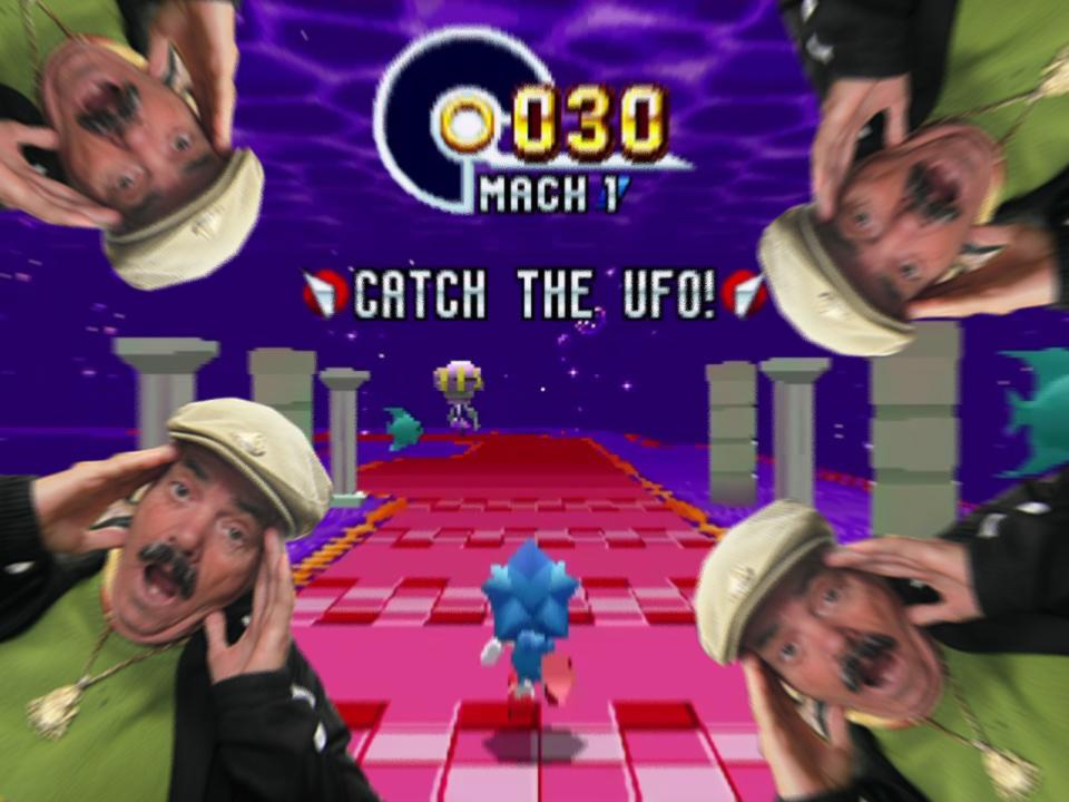 Sticker risitas catch the ufo sonic mania explosion irma ouragan