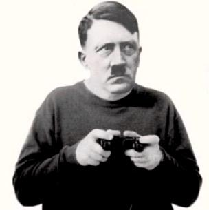 Sticker politic hitler adolf humour geek gamer playstation