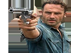 Sticker other the walking dead rick twd gun arme