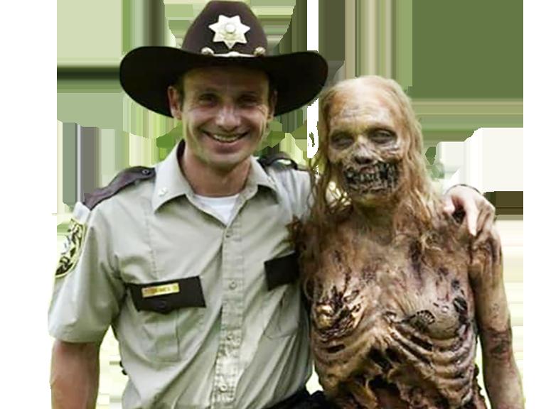 Sticker other the walking dead rick twd gun arme funny zombie