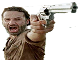 Sticker other the walking dead rick hungry gun