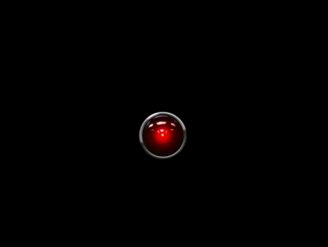 Sticker jvc hal 9000 odyssee de lespace robot ia oeil watching you machine