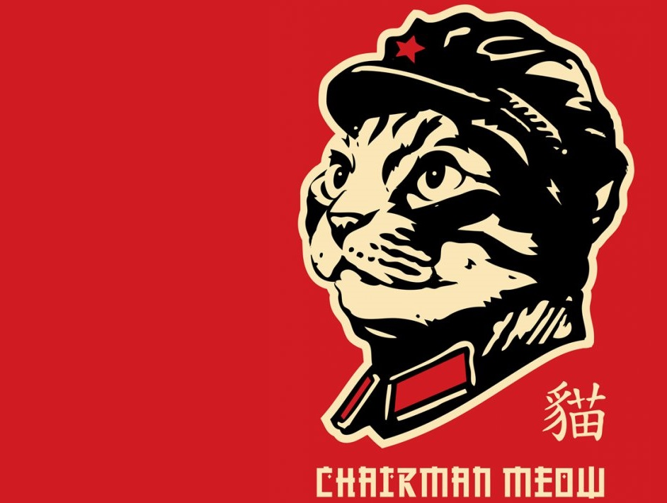 Sticker other chine communiste chat meow chairman meow mao