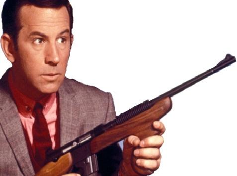 Sticker max la menace fusil mitraillette