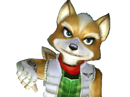 Sticker other starfox mc cloud adventures sourire amuse drole marrant pouce bas thumb down pas daccord desapprouve desaccord interdit refus deny denied nope non renard furry tinnova