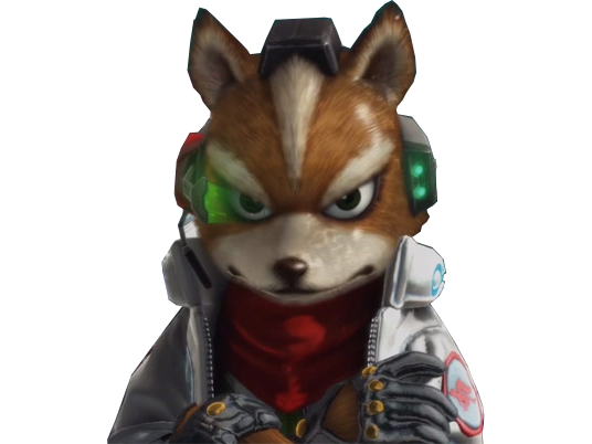 Sticker other starfox mc cloud zero wii u reboot sourire fier marrant drole amuse cocasse bras croises viseur regard renard furry tinnova