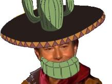 Sticker one piece jesus issou mexicain immigre cliche raciste jean ango cactus