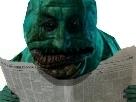 Sticker risitas issou journal horreur monstre creepy