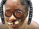 Sticker africaine risitas moche
