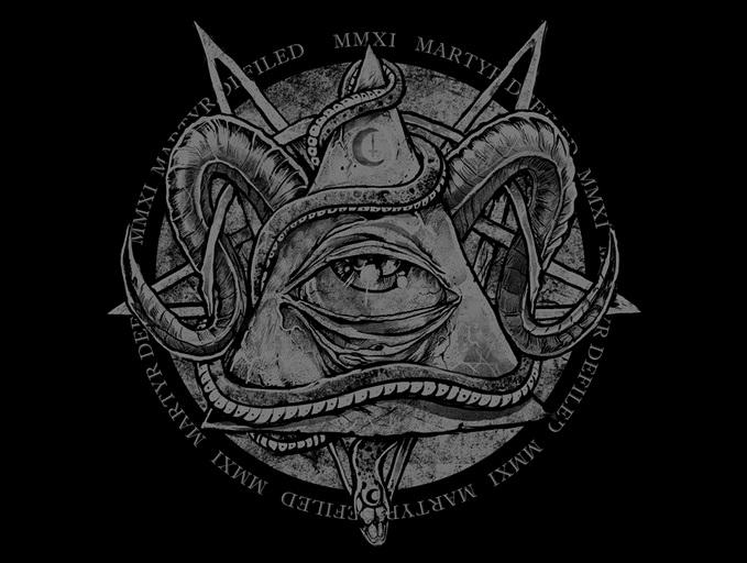 Sticker jvc satan symbole illuminati cthulhu triangle tentacule oeil complot