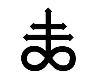 Sticker jvc leviathan croix rite satan