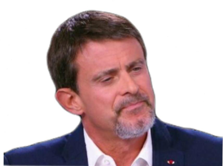 Sticker politic valls barbe sage vieux politique manuel manu blancos el blanco white