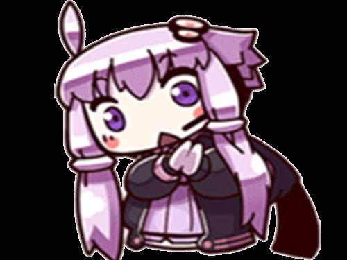 Sticker kikoojap yuzuki yukari vocaloid violet hein nani etonner etonnement