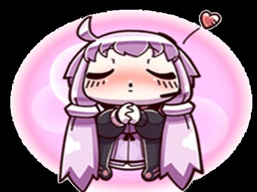 Sticker kikoojap yuzuki yukari vocaloid violet kiss amour love bisou baisee rose