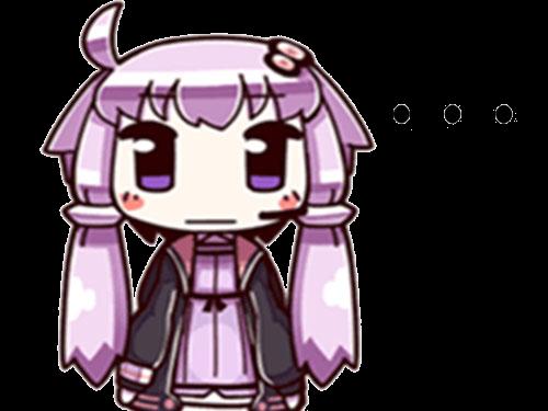 Sticker kikoojap yuzuki yukari vocaloid violet perplexe soupir