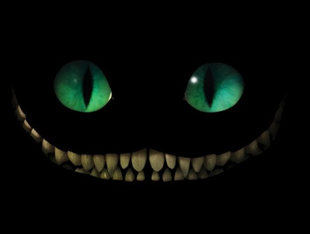 Sticker jvc cheshire cat chat sourire dent folie fou alice merveille