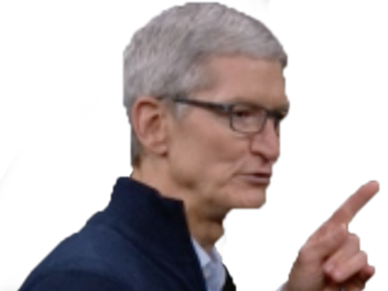 Sticker other tim cook apple pigeon mac iphone ios macos non doigt nope attention