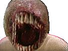 Sticker issou monstre creepy risitas dents