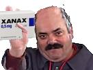 Sticker xanax depression depressif anxieux anxiete phobique phobie sociale assosial medicament comprime pilules drogue medoc risitas alprazolam anxiolytiques mouchoir chauve fatigue cernes