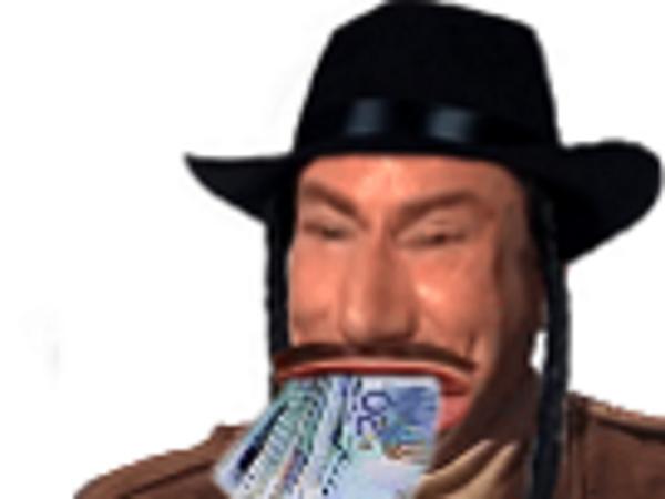 Sticker risitas eussou billets juif argent jesus