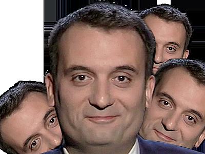 Sticker politic florian philippot politique fn clone multi copie