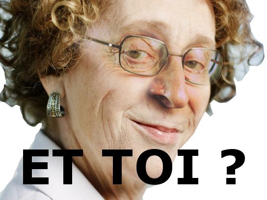 Sticker politic muriel penicaud chance larry et toi