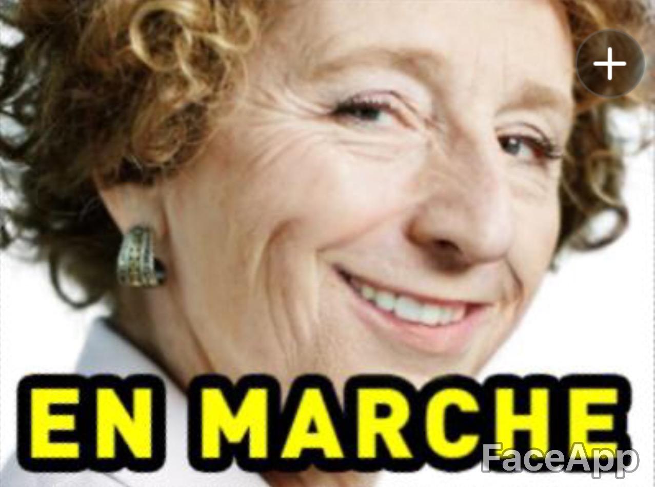 Sticker risitas politic muriel penicaud en marche ministre travail rire