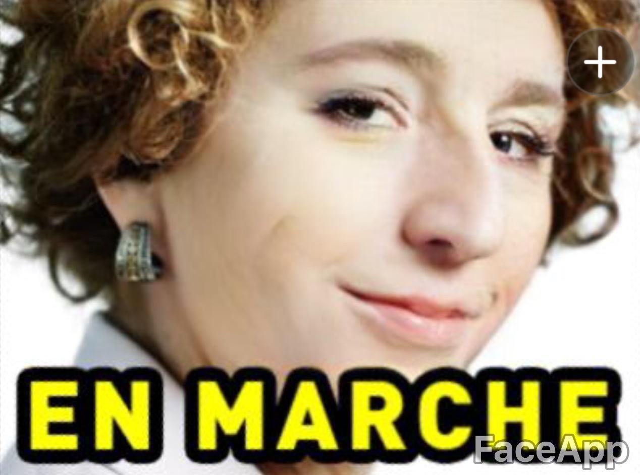 Sticker risitas muriel penicaud en marche ministre travail jeune