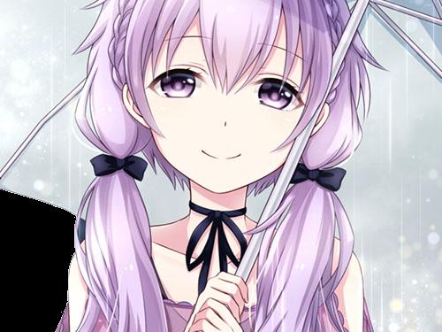 Sticker yuzuki yukari kikoojap vocaloid parapluie sourire violet kj