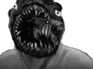 Sticker issou risitas creepy