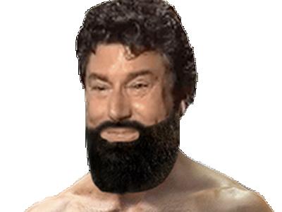 Sticker risitas jesus muscle barbe beubar bg beau