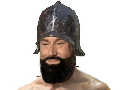 Sticker risitas jesus dark souls barbe bg muscu casque chevalier soldat
