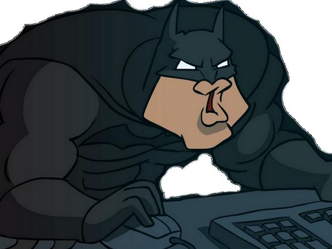 Sticker other batman signaleur ordinateur