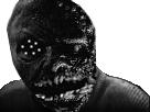 Sticker risitas jesus monstre creepy bizarre