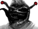 Sticker creepy risitas issou monstre horreur