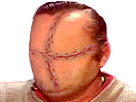 Sticker risitas creepy bizarre cicatrices