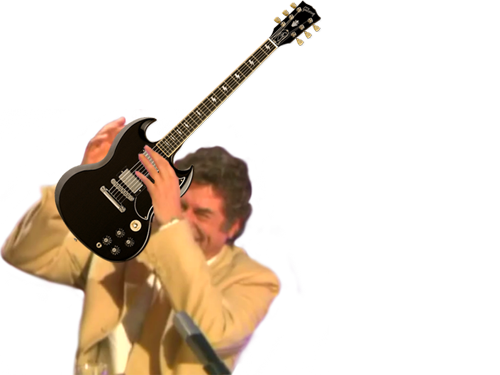 Sticker risitas issou jesus quintero guitar guitare hard rock hard rock acdc acdc gibson sg musique metal