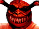 Sticker creepy risitas issou monstre enfer